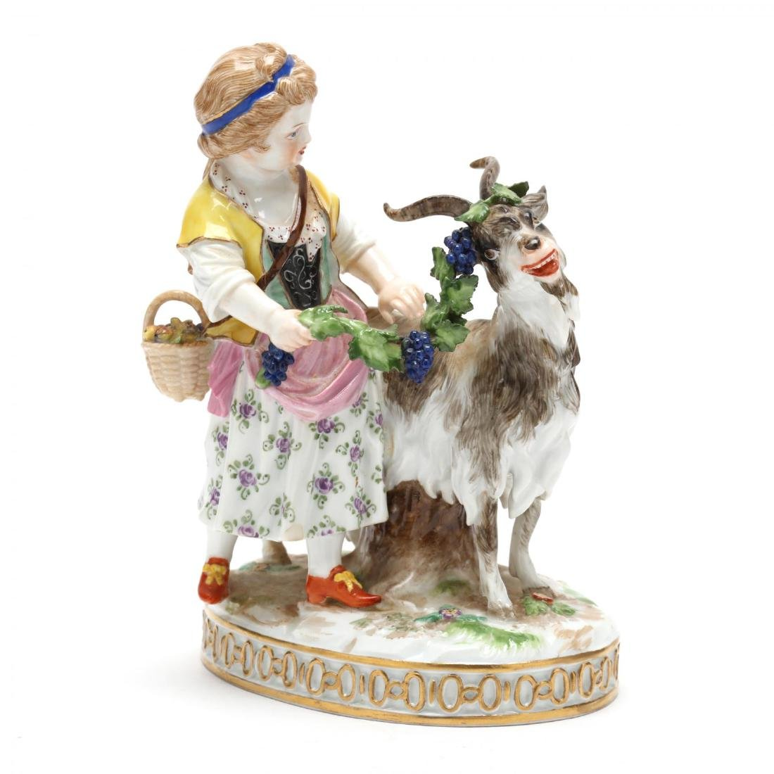 Meissen Figurine, Girl with Goat