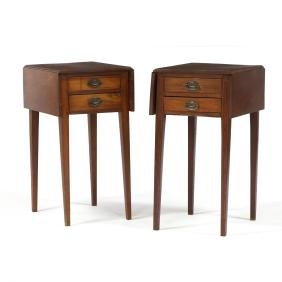 Pair of Bench Made Inlaid Pembroke Tables