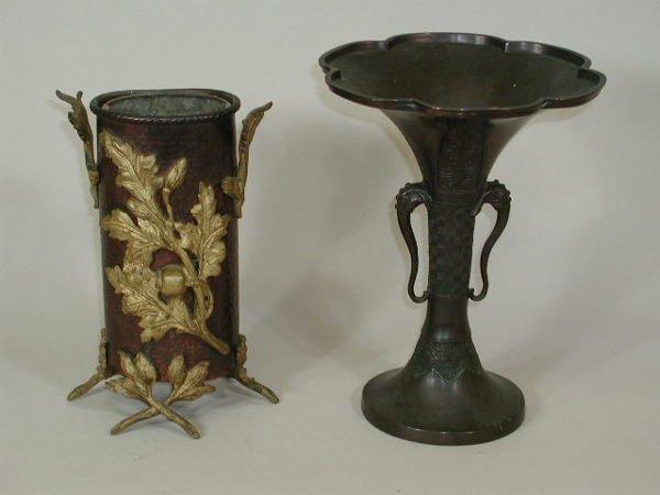 9: Two Metal Vases,