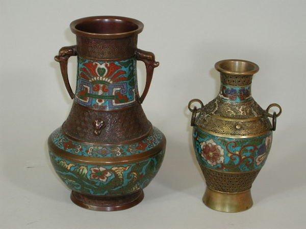 11: Two Cloisonné Vases,