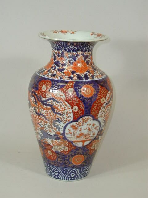 15: Oriental Porcelain Floor Vase,
