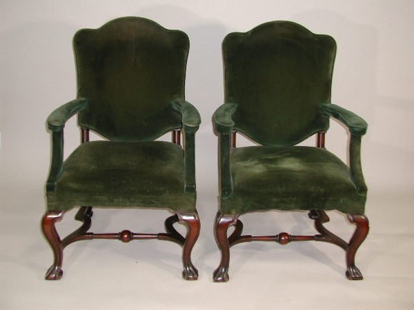 23: Pair of Open Arm Chairs,