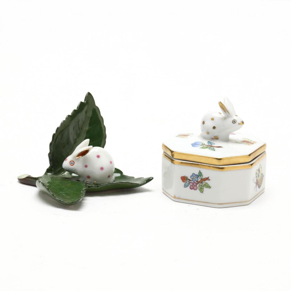 Two Small Herend Porcelain Objects