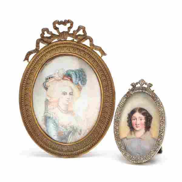 Two Continental Portrait Miniatures