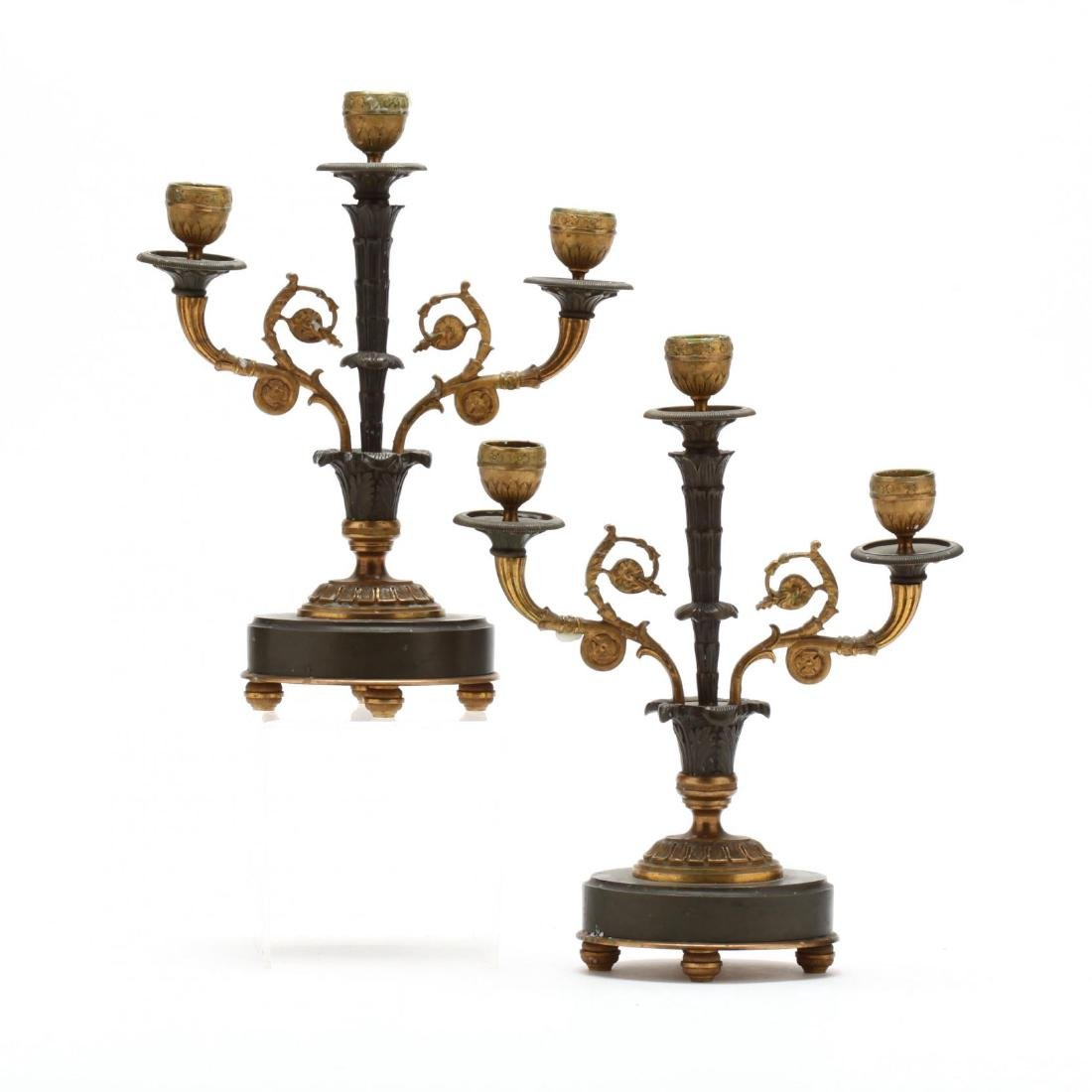 A Pair of French Empire Candelabra