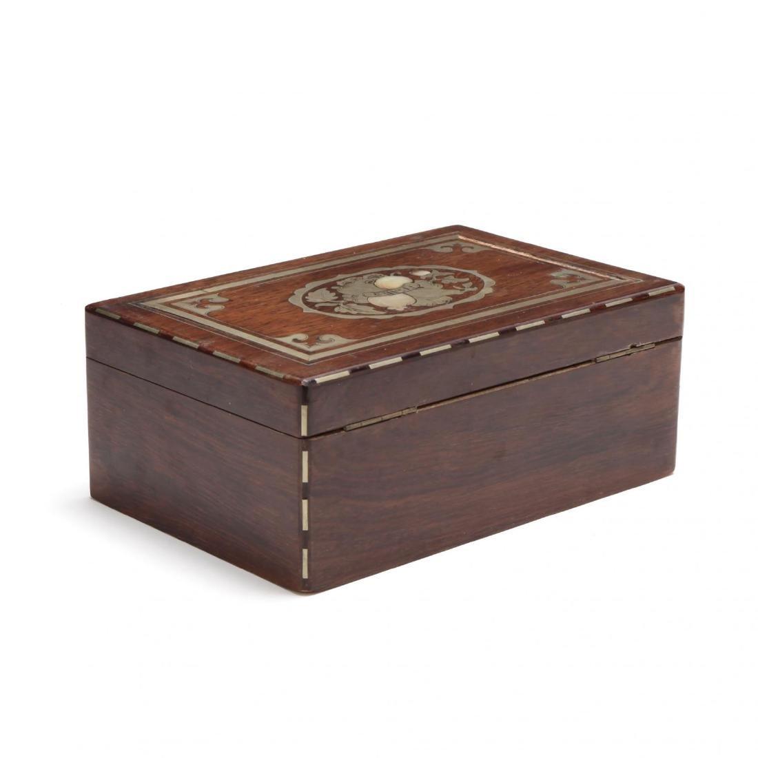 A Victorian Inlaid Cigar Box - 2