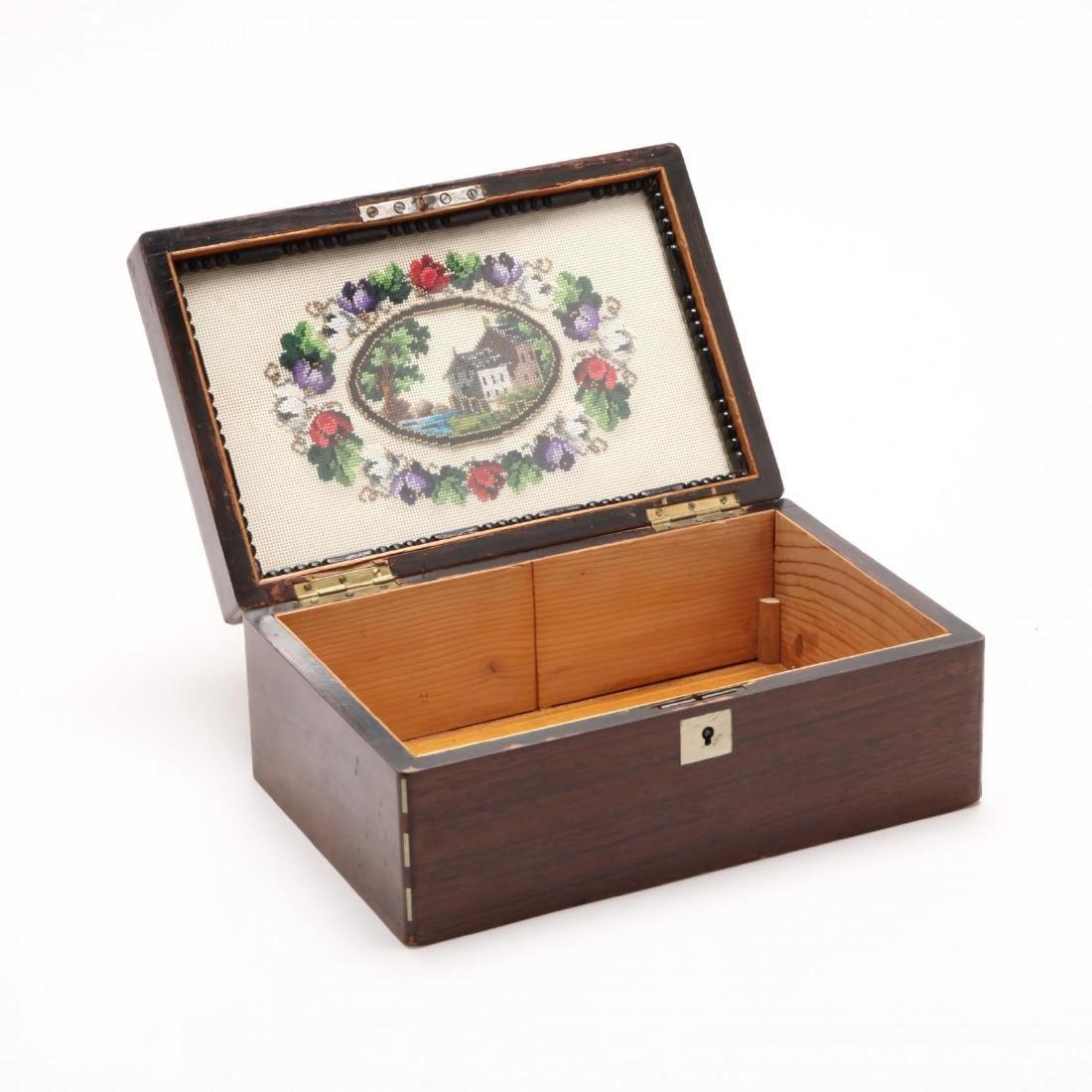 A Victorian Inlaid Cigar Box - 3