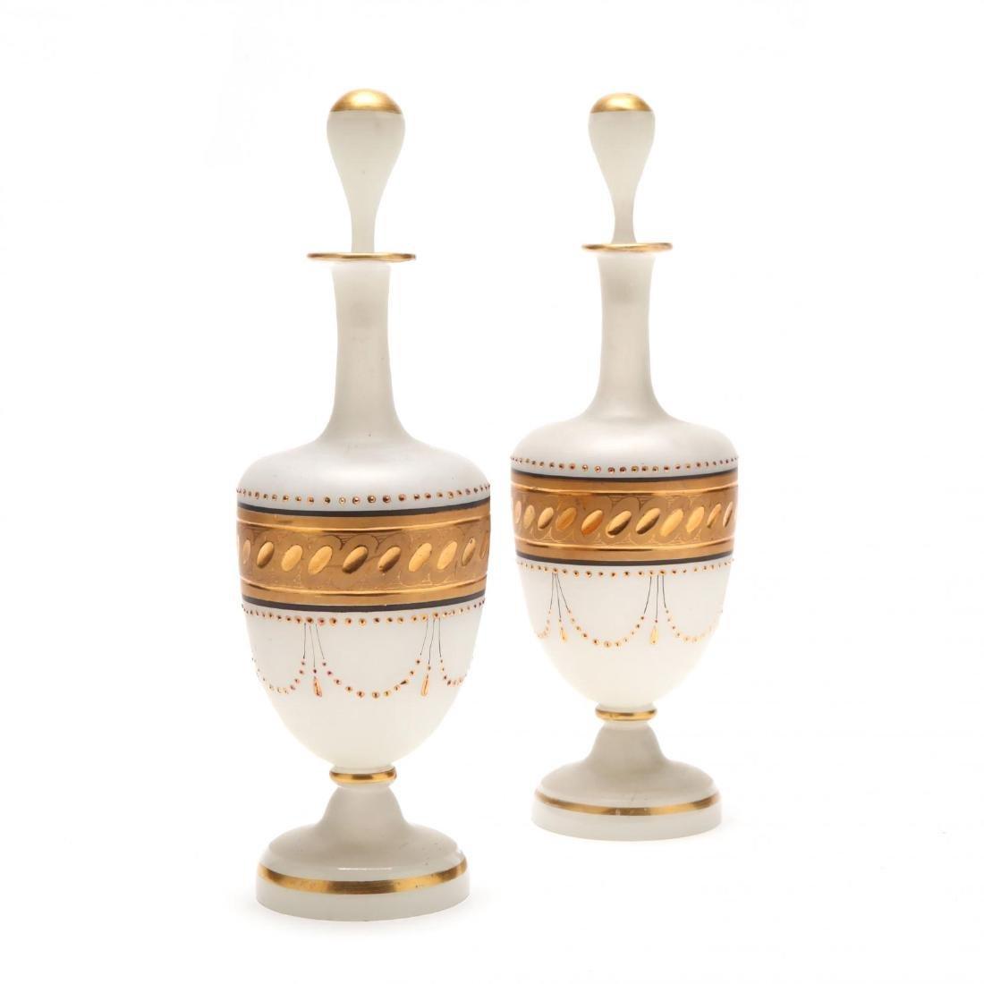 Pair of Bristol Glass Scent Bottles