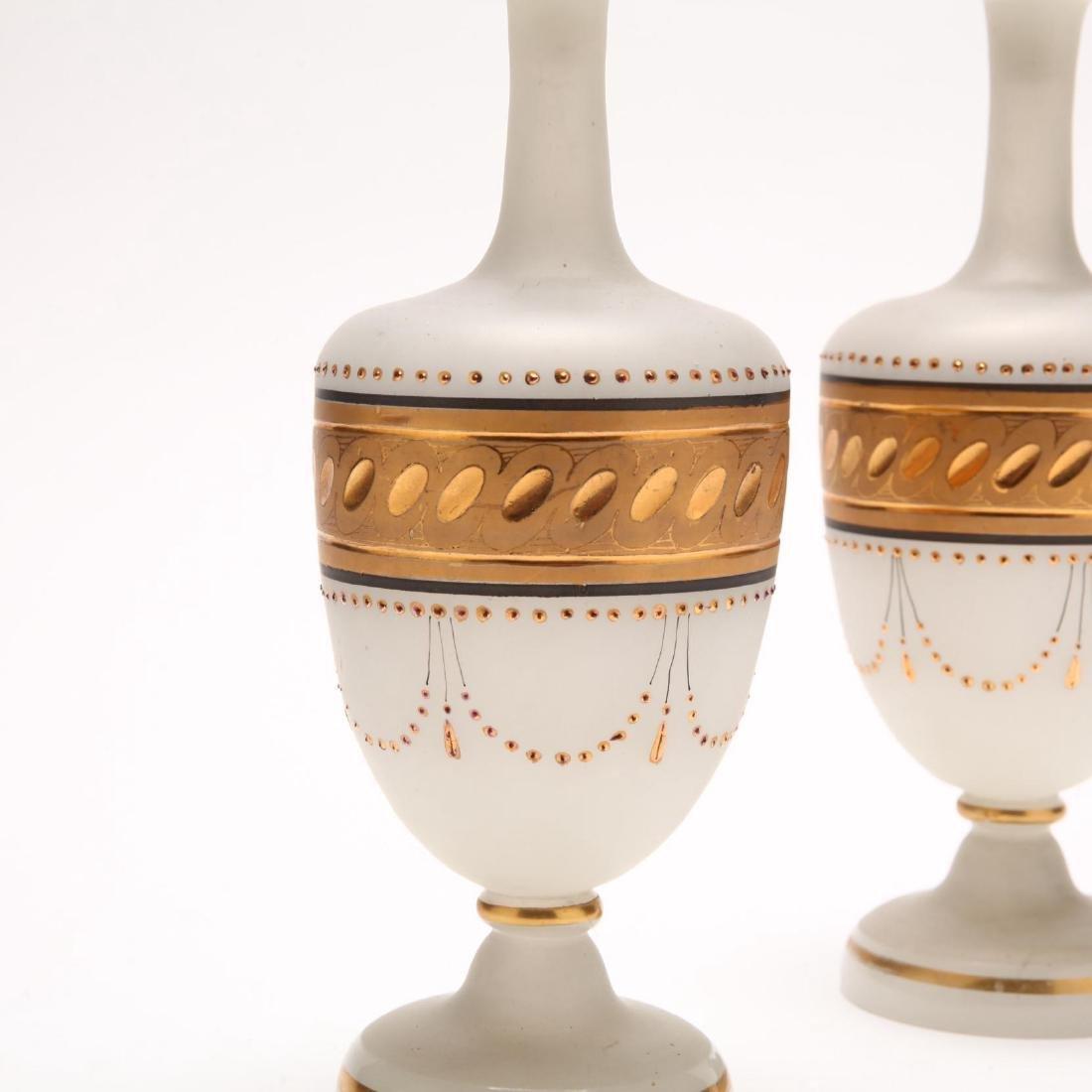 Pair of Bristol Glass Scent Bottles - 2