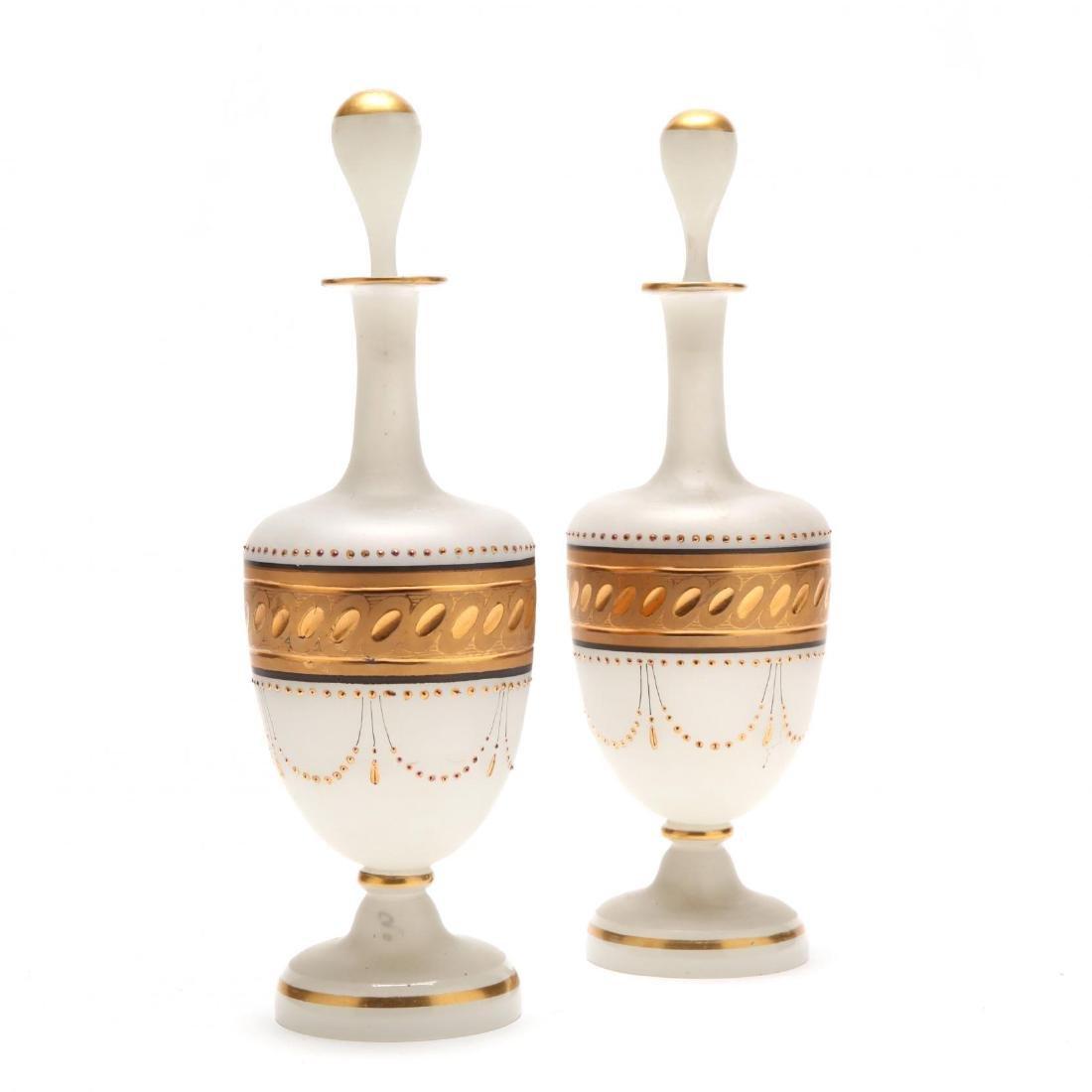 Pair of Bristol Glass Scent Bottles - 3