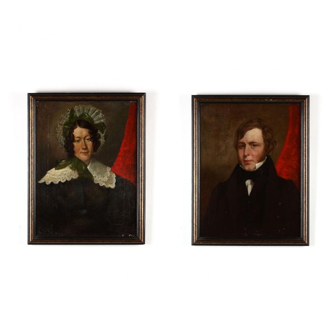 A Pair of Antique Continental School Portraits