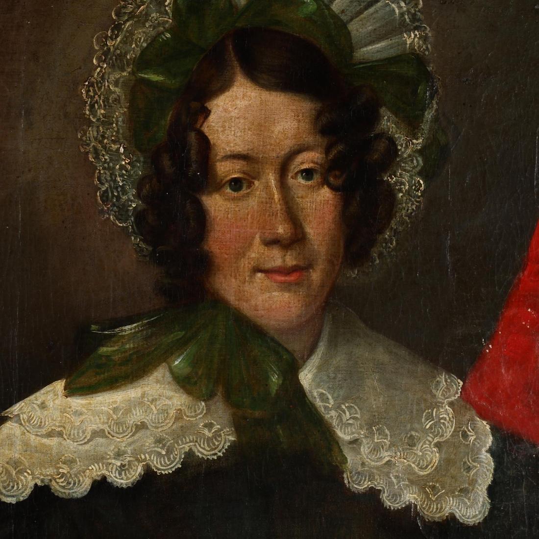 A Pair of Antique Continental School Portraits - 3