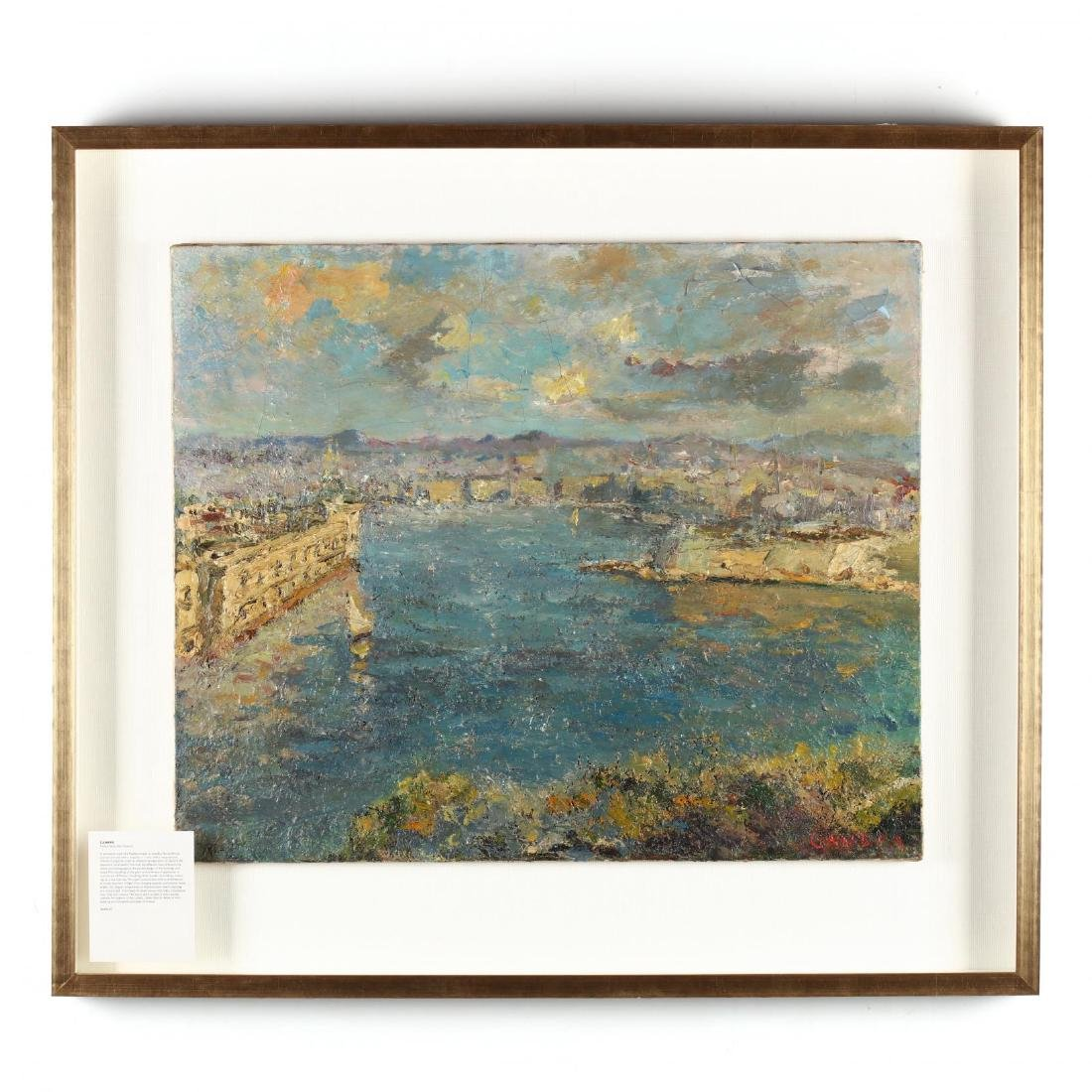 An Antique Painting of the French Mediterranean