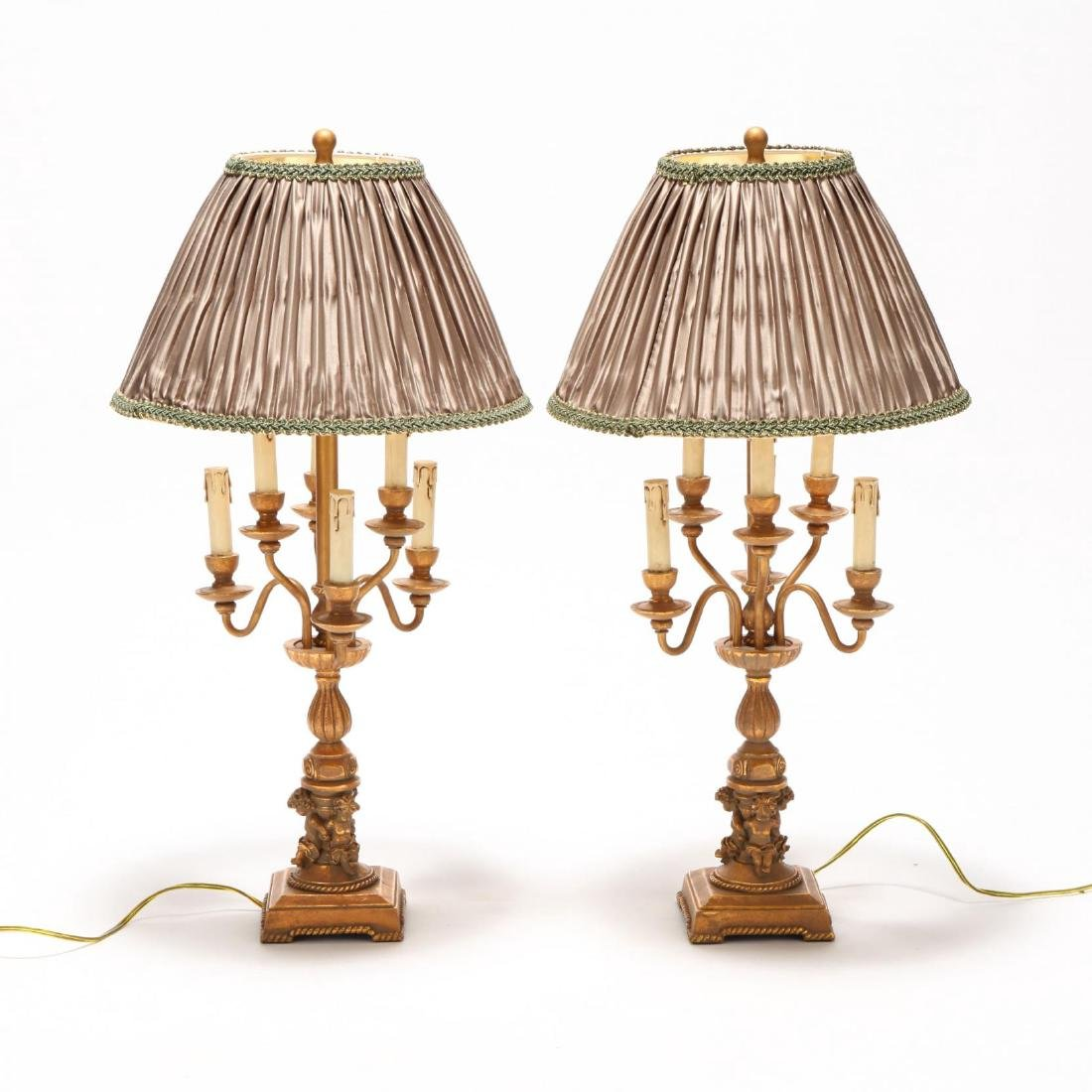 Pair of Italianate Style Candelabra Table Lamps - 4