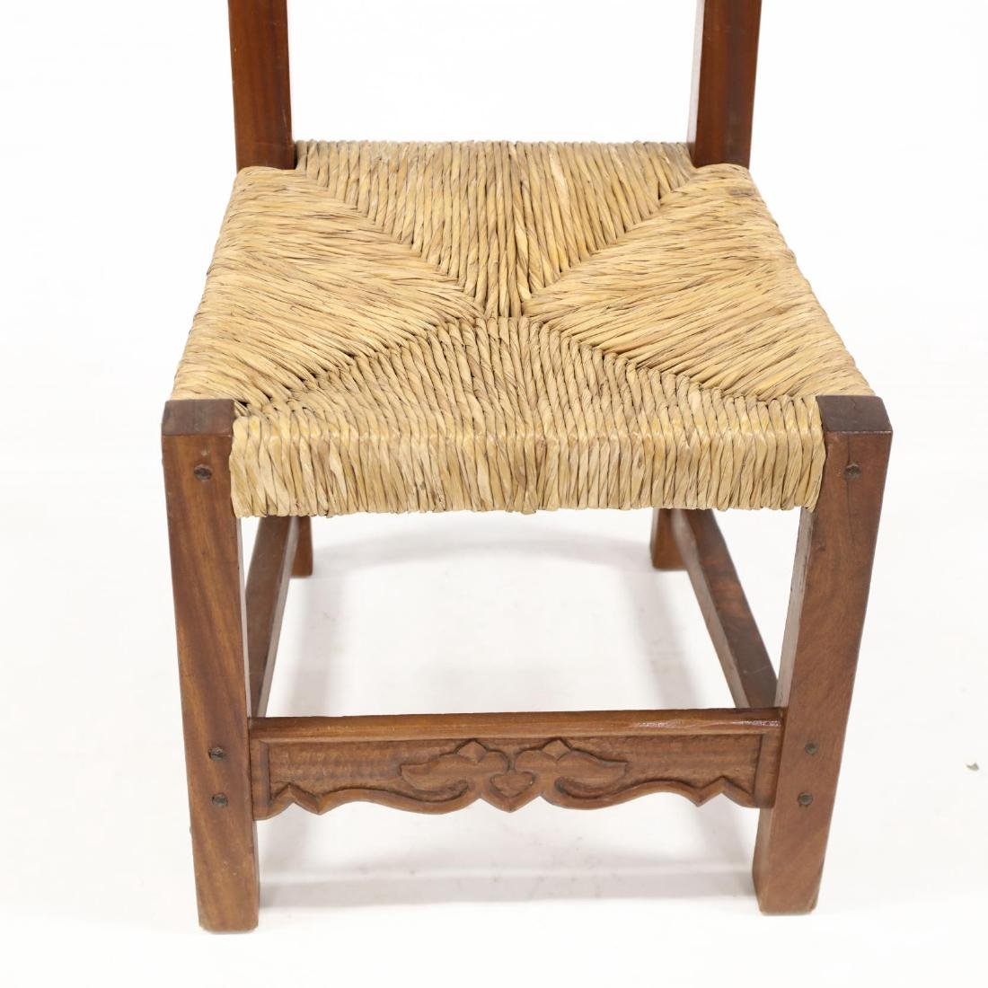 Set of Eight Spanish Style Carved Dining Chairs - 3