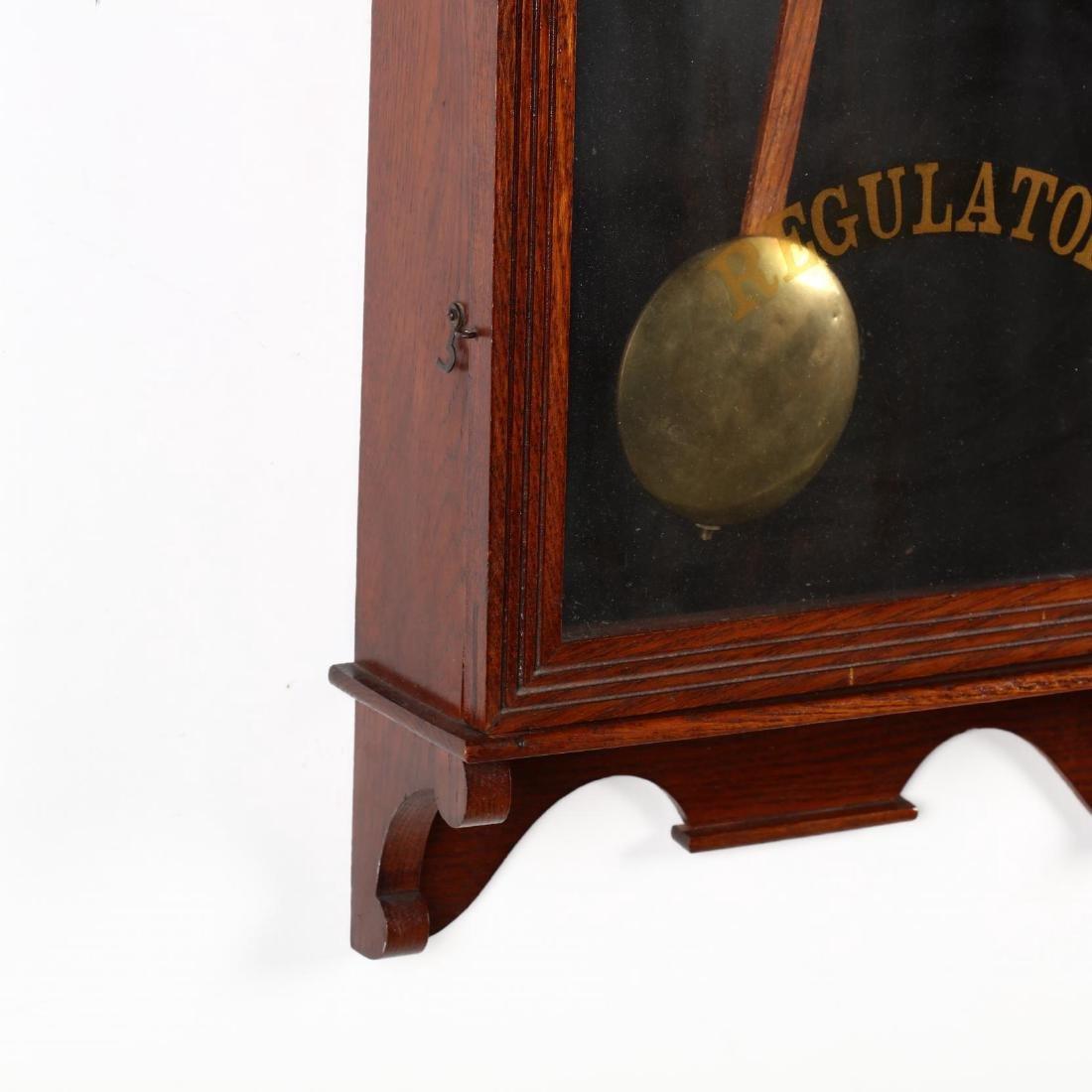 Vintage Regulator Wall Clock - 3