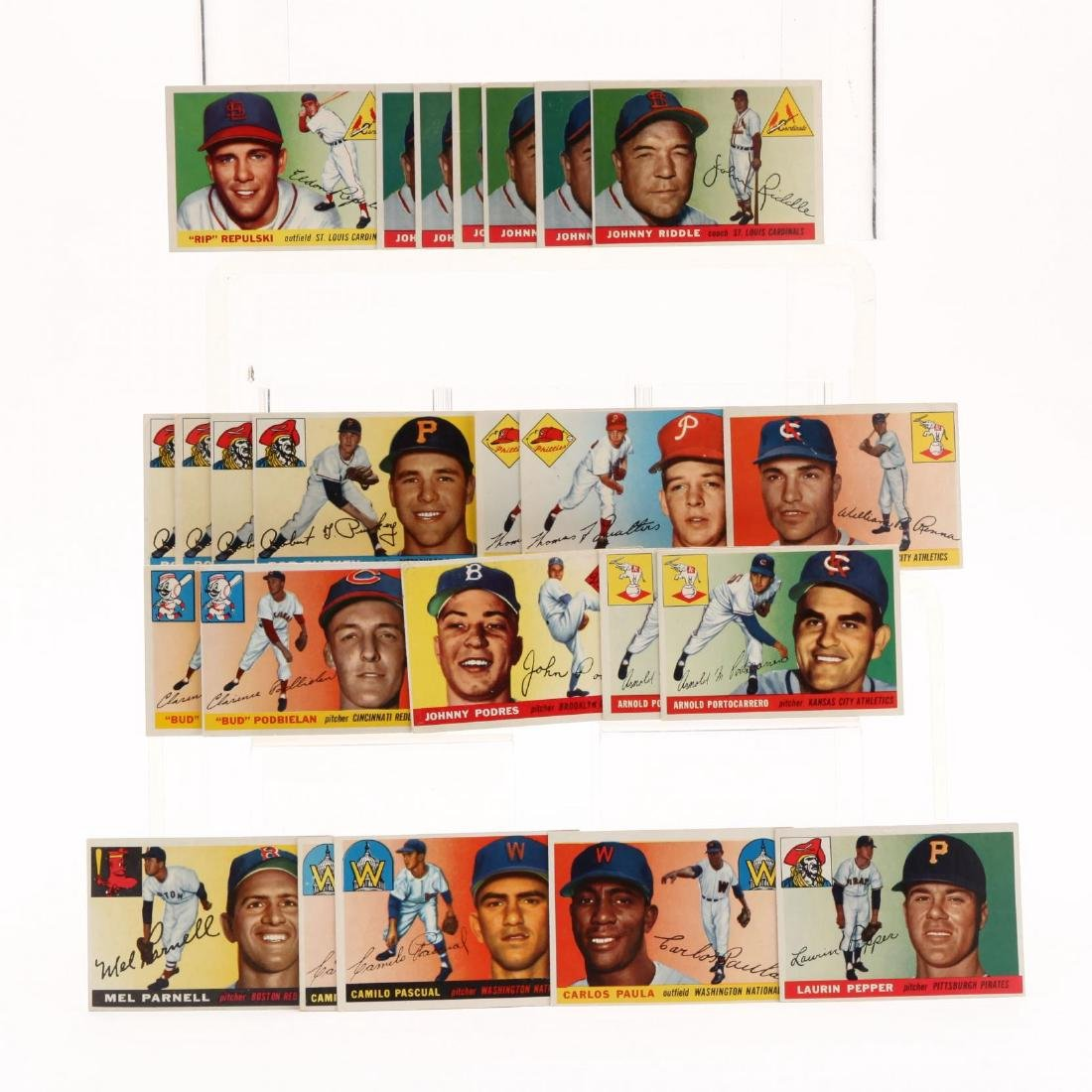 Collection of Over 175 1950s Topps Baseball Cards - 4