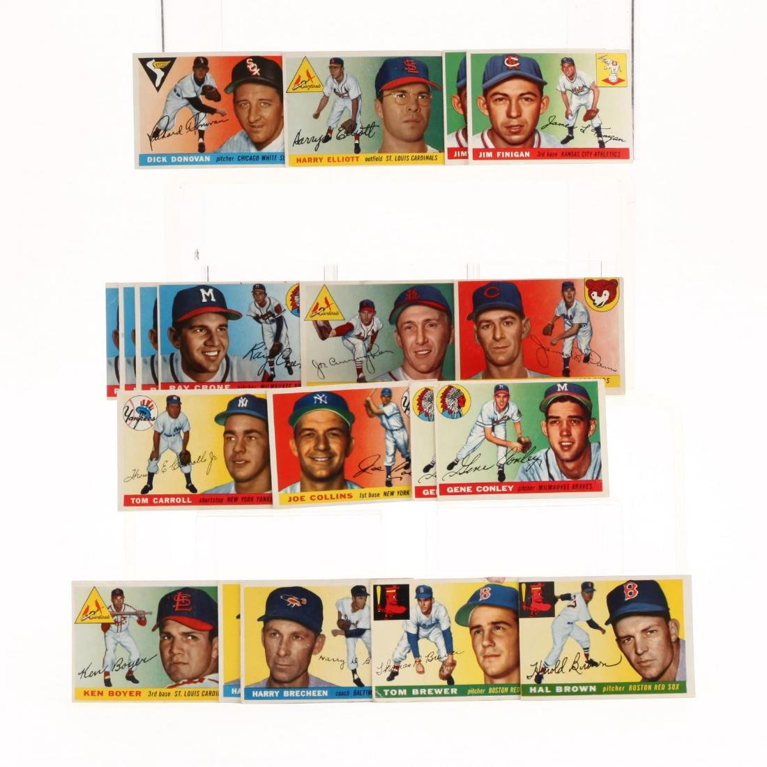 Collection of Over 175 1950s Topps Baseball Cards - 8