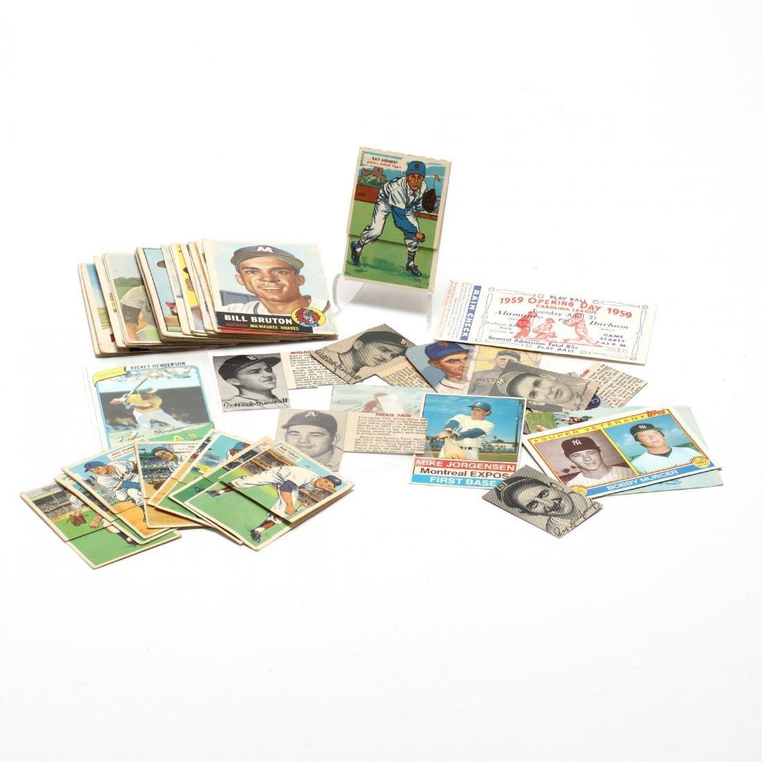 Vintage Baseball Cards and Ephemera Grouping