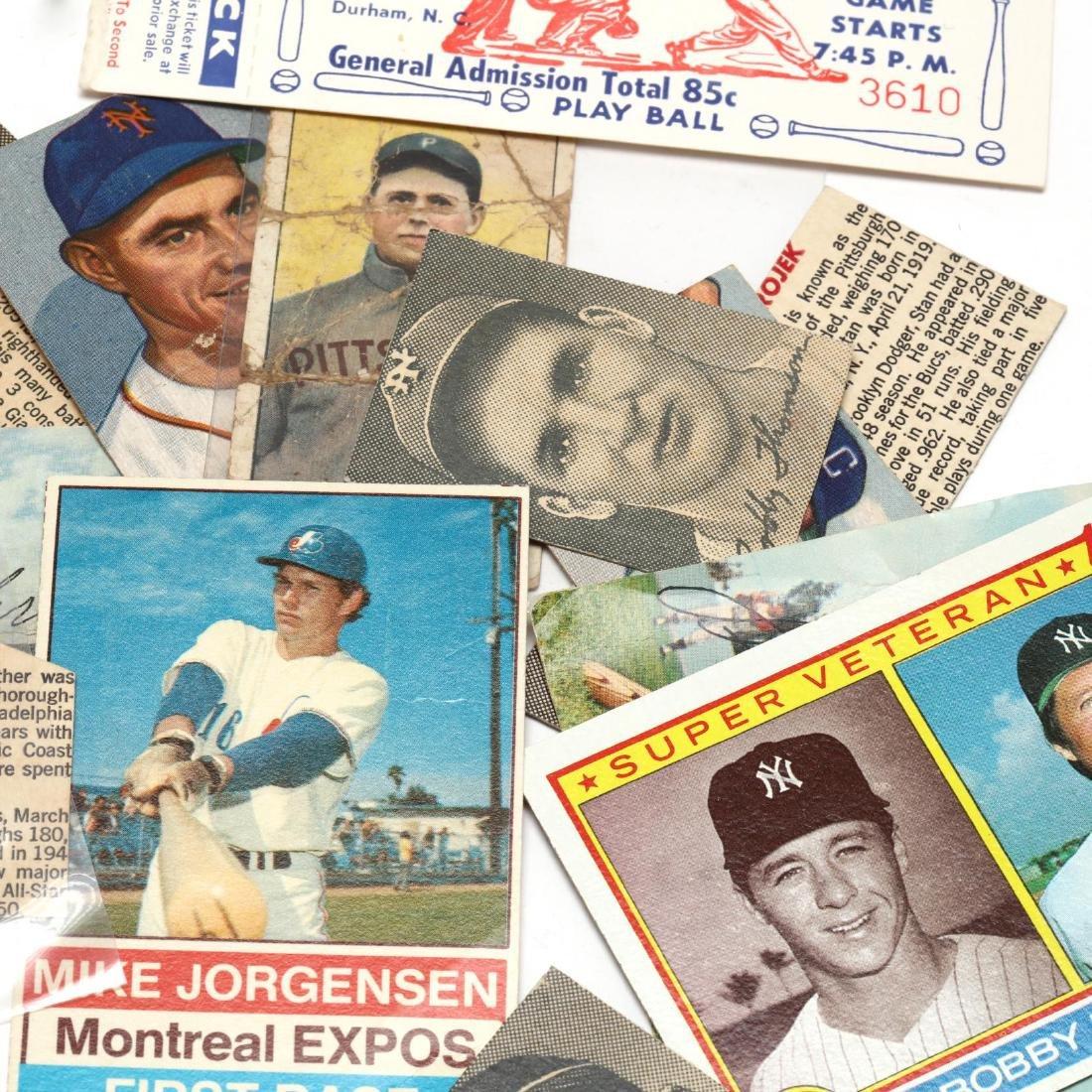 Vintage Baseball Cards and Ephemera Grouping - 4