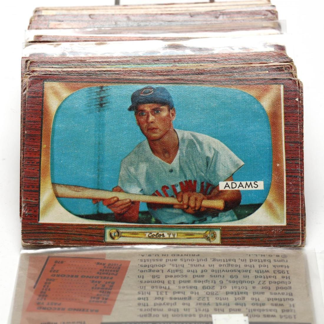 Collection of Over One Hundred 1955 Bowman Baseball - 4