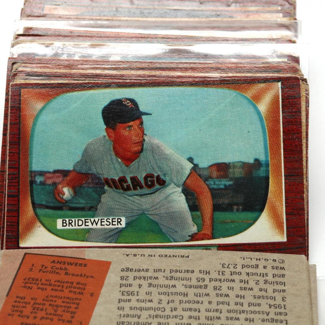 Collection of Over One Hundred 1955 Bowman Baseball - 5