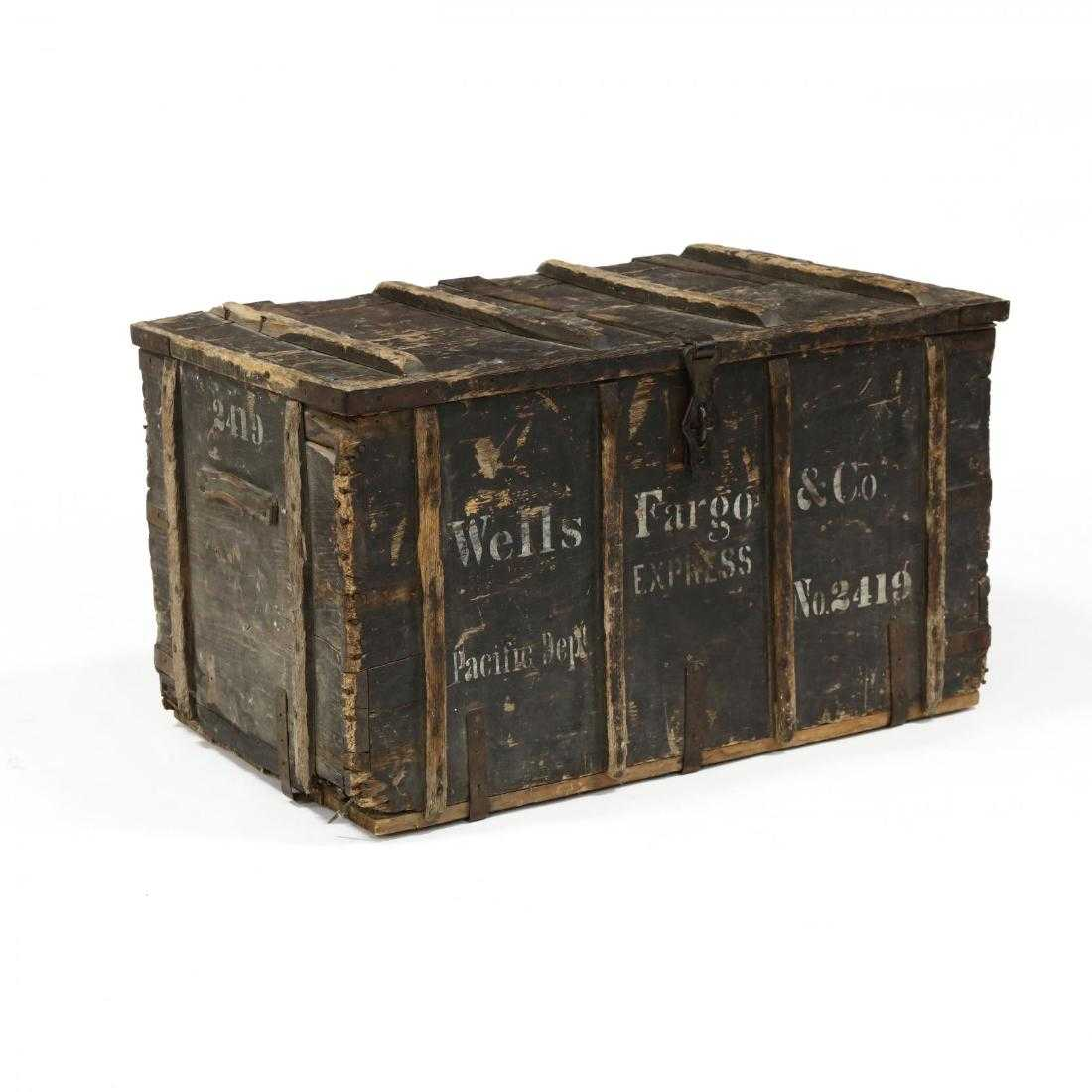 Wells Fargo American Furniture Payment: Antique Wells Fargo Stagecoach Trunk