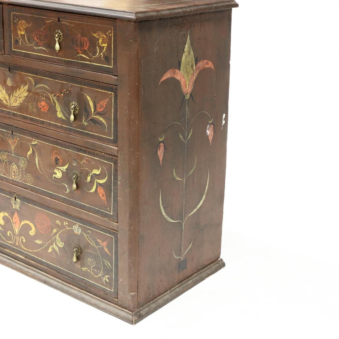 Southern Paint Decorated Chest of Drawers - 3