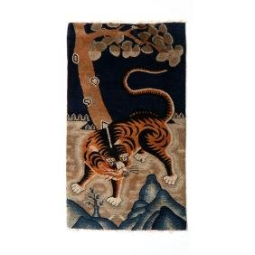 Chinese Art Deco Figural Area Rug