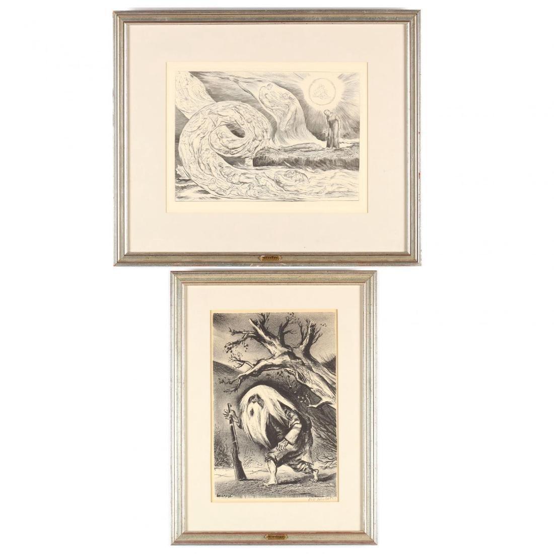 Two Framed Prints - Blake and Gropper