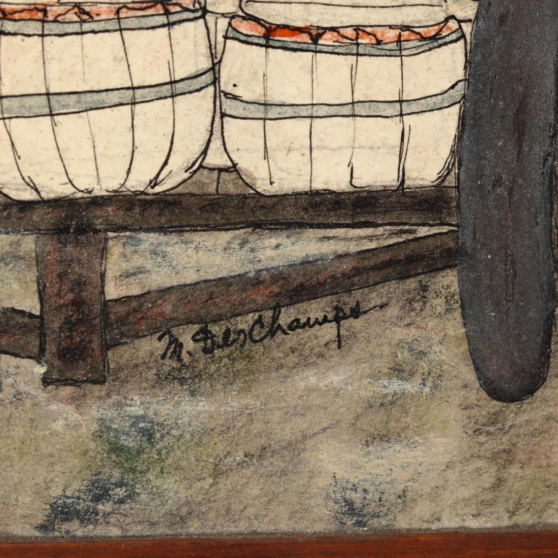 Minnia Deschamps (SC, 1907-1986), Sweet Potato Harvest - 2