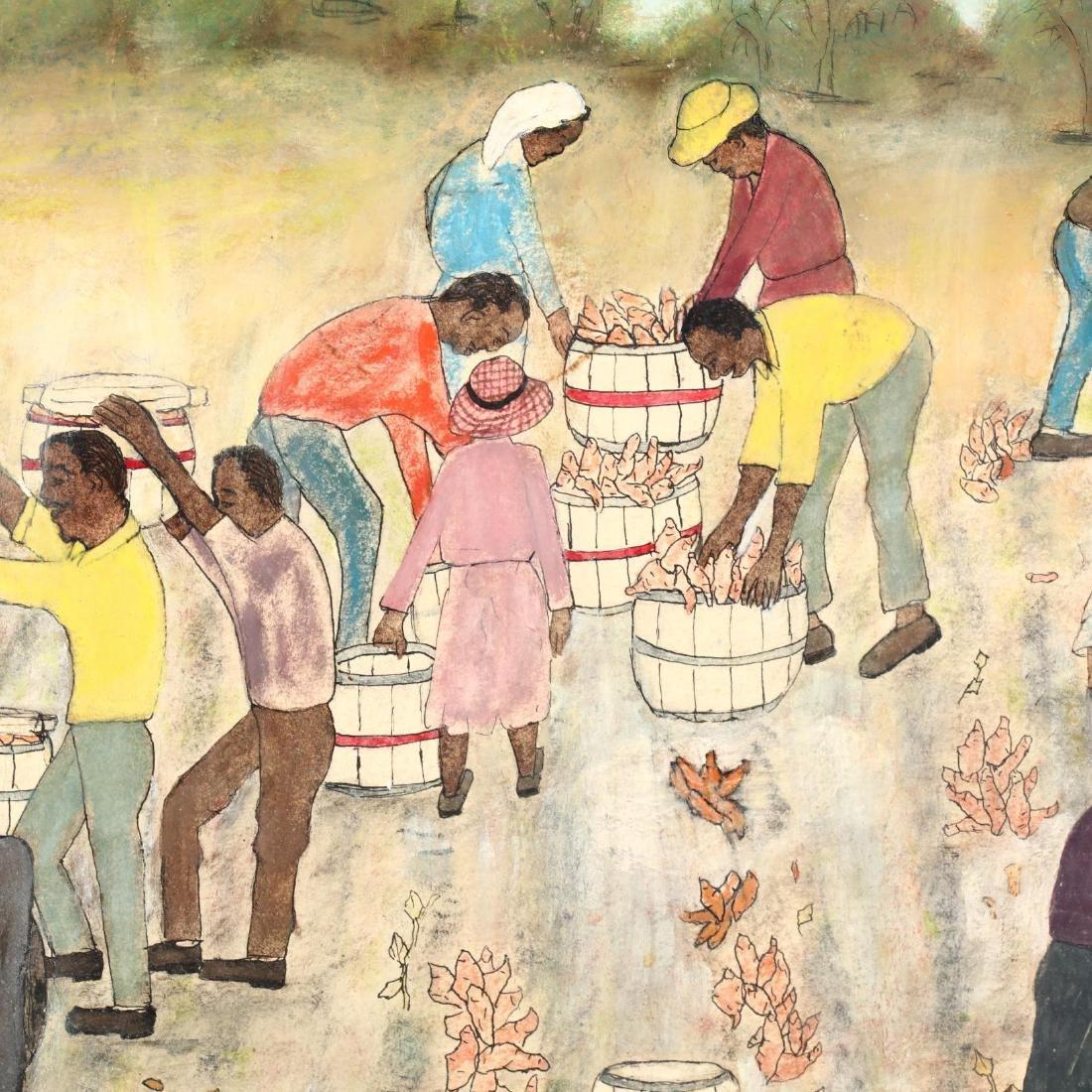 Minnia Deschamps (SC, 1907-1986), Sweet Potato Harvest - 3