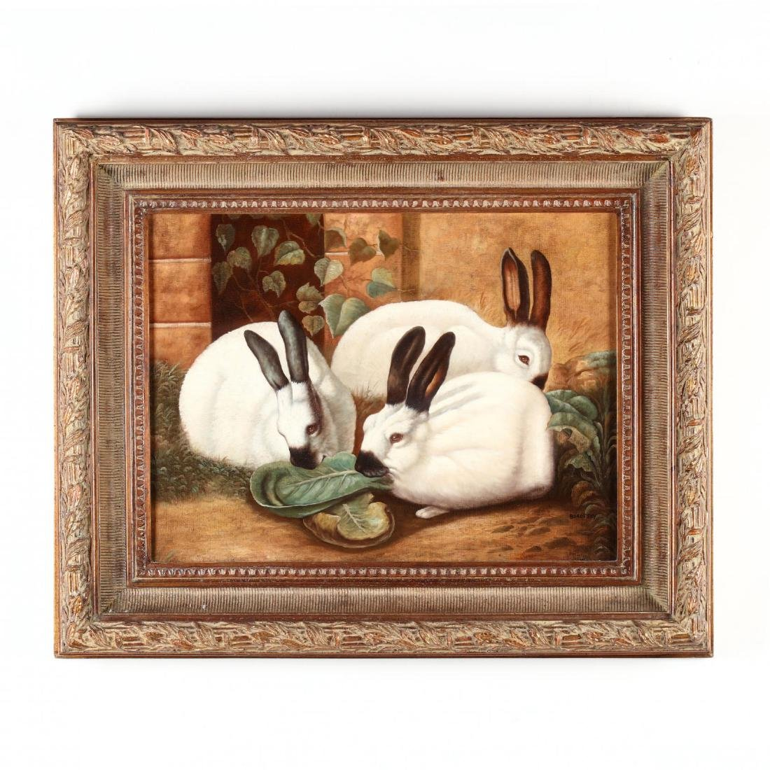A Contemporary Decorative Painting of Rabbits