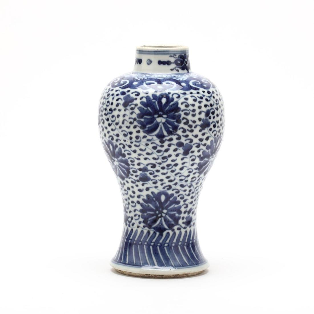 A Chinese Blue and White Meiping Vase