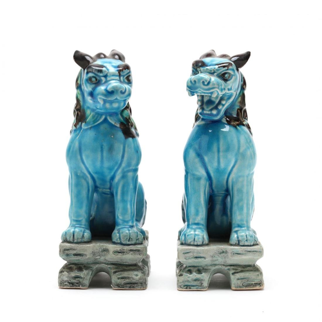 A Pair of Turquoise Blue Foo Lions