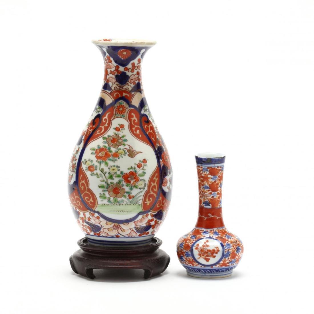Two Japanese Imari Porcelain Vases