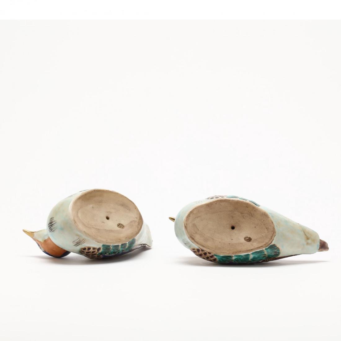 A Pair of Japanese Kutani Birds - 3