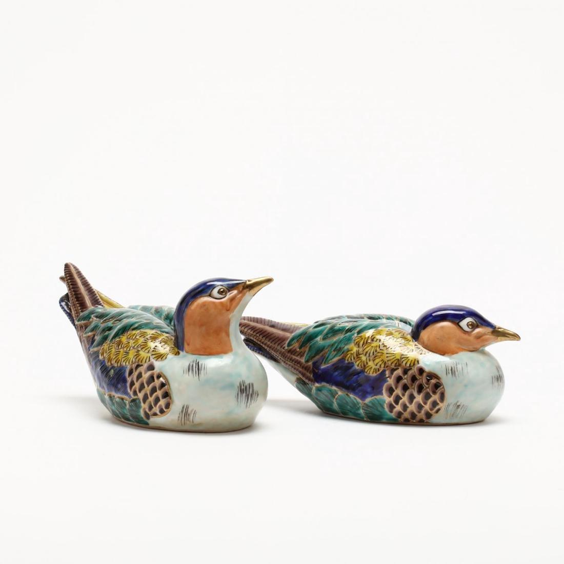 A Pair of Japanese Kutani Birds - 4