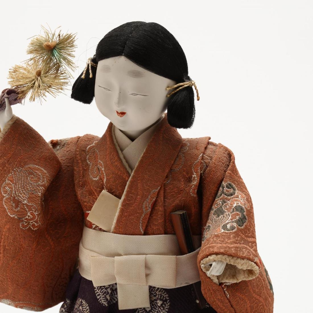 A Group of Five Japanese Dolls - 10