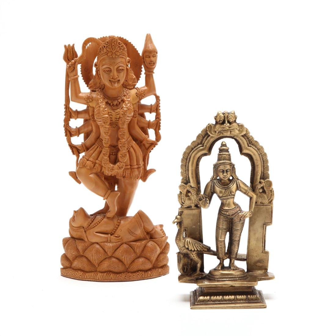 Two Vintage Hindu Sculptures