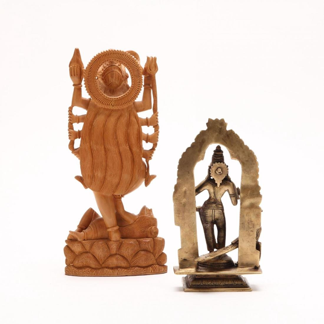 Two Vintage Hindu Sculptures - 4