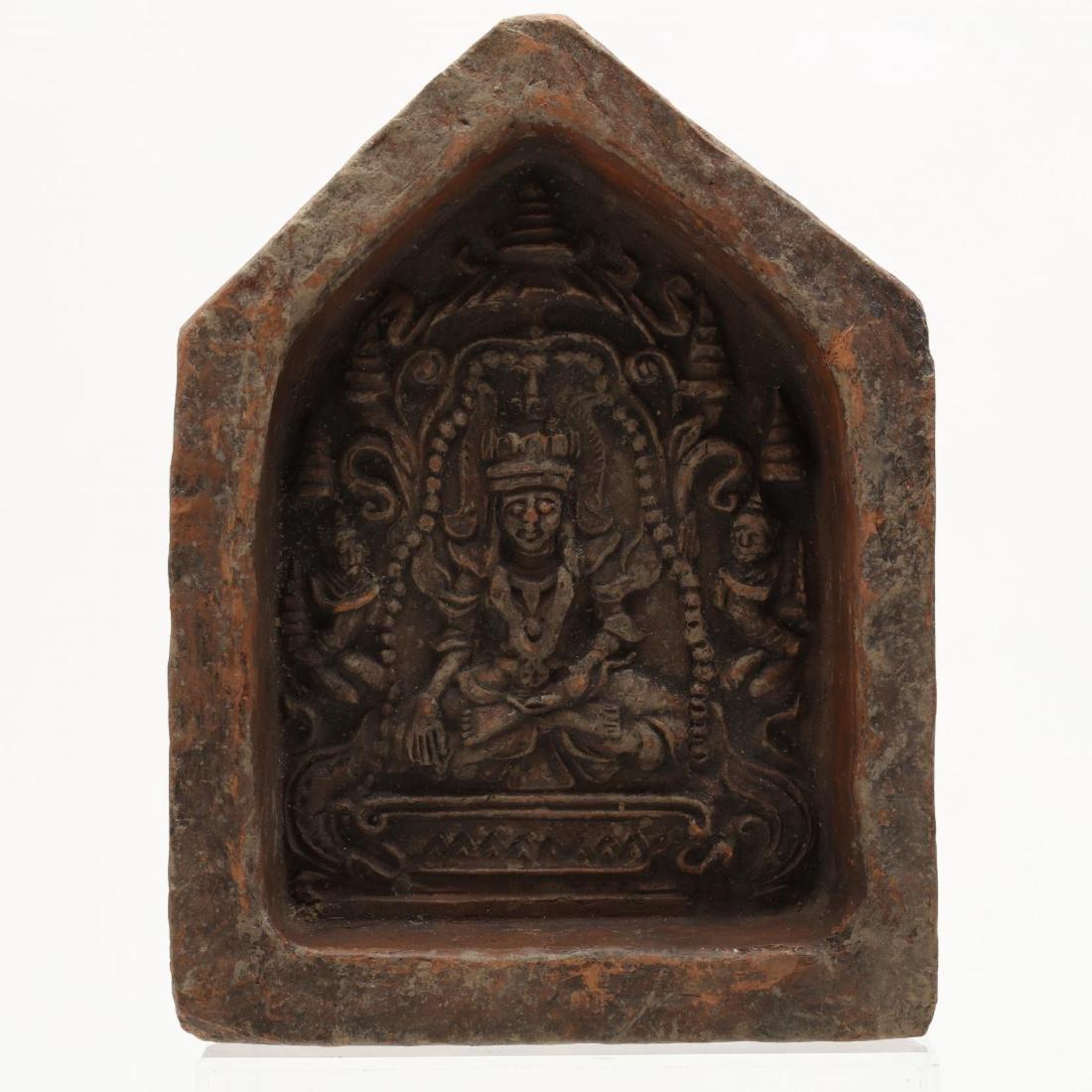 Four Thai Stone Buddhist Votive Plaques - 4