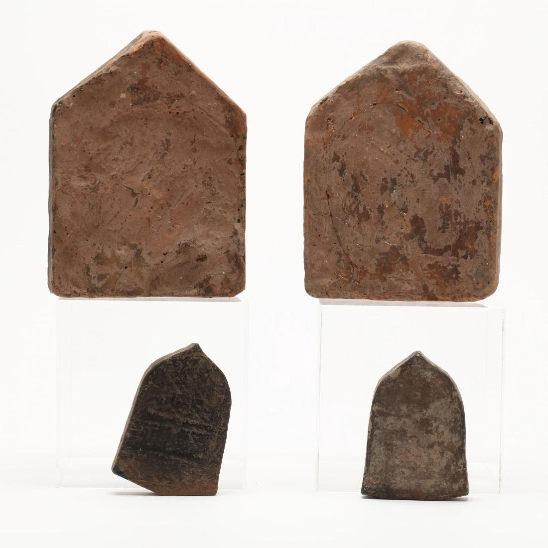 Four Thai Stone Buddhist Votive Plaques - 6