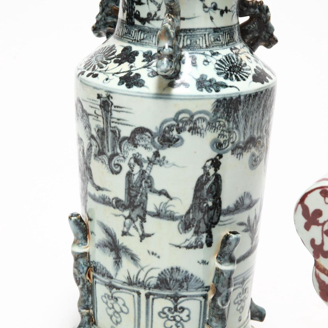 Two Decorative Chinese Urns - 2