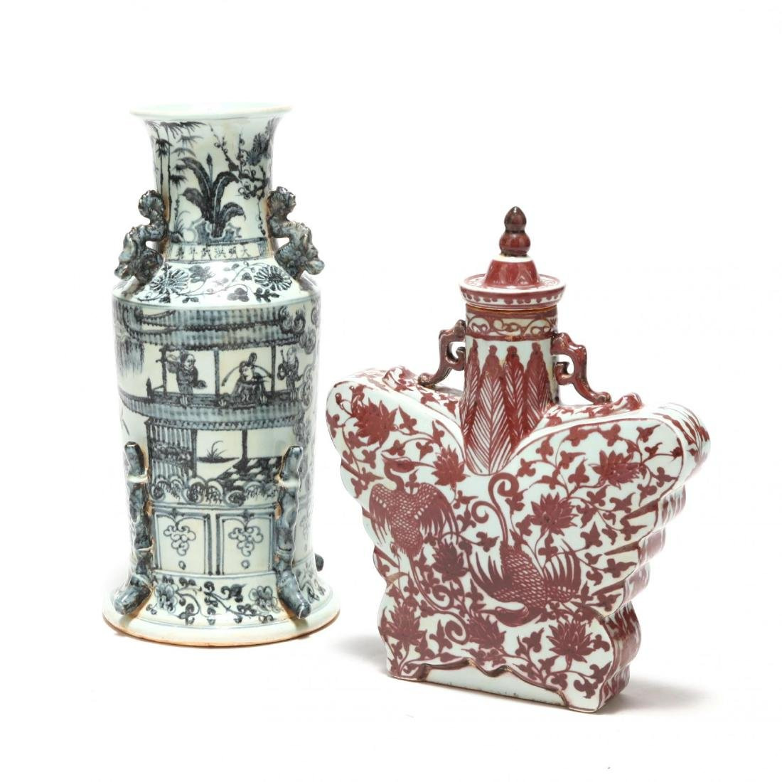Two Decorative Chinese Urns - 3