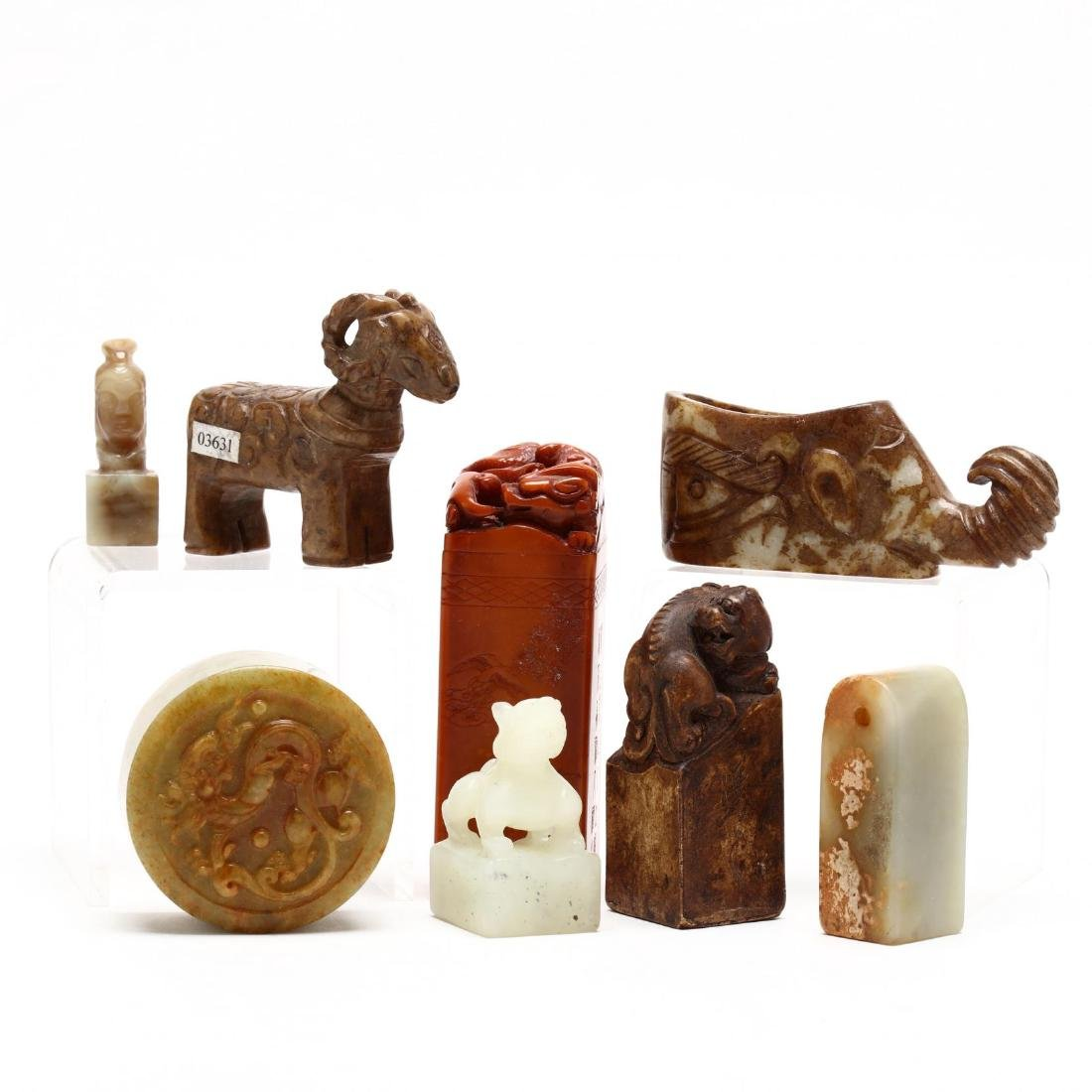Eight Chinese Hardstone Carvings