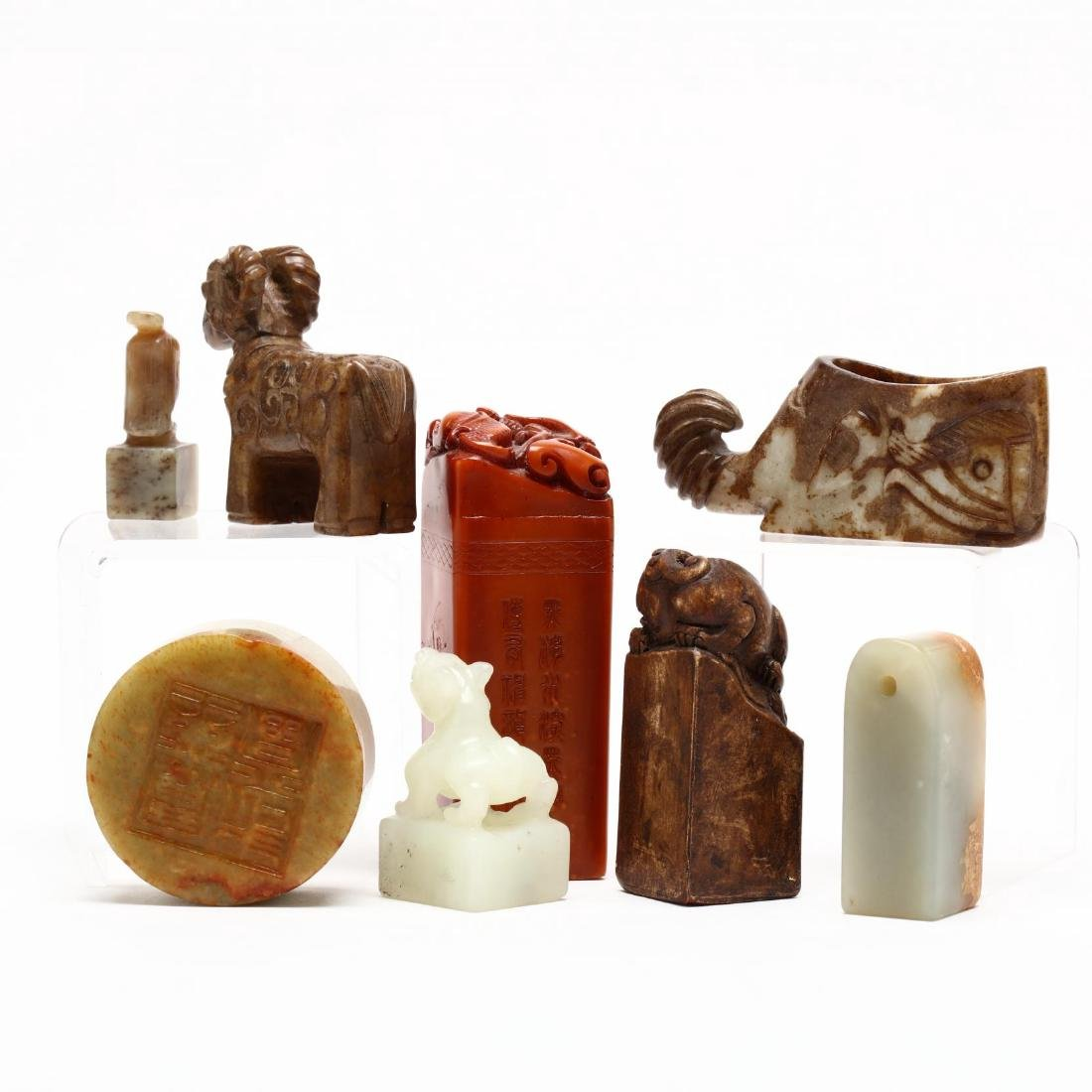 Eight Chinese Hardstone Carvings - 2