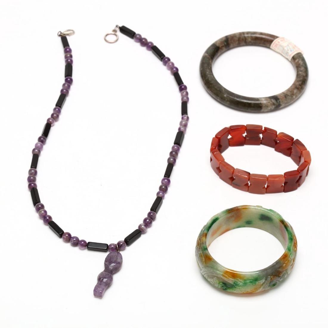 Group of Hardstone Jewelry