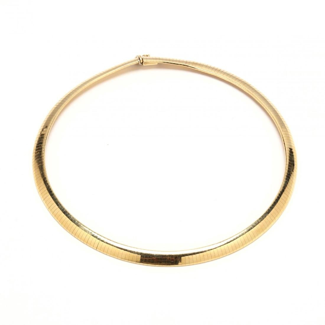 14KT Gold Omega Necklace, Italy