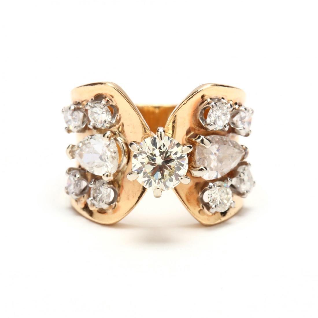 14KT Multi Stone Diamond Ring